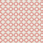 L & I Sam & Mitzi - 4233 - Daisy, Orange / White Retro Floral on Stone - A106.1 - Cotton Fabric